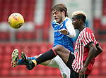 St Johnstone v Sunderland…15.07.17… McDiarmid Park… Pre-Season Friendly<br />Murray Davidson and Didier N'Dong<br />Picture by Graeme Hart.<br />Copyright Perthshire Picture Agency<br />Tel: 01738 623350  Mobile: 07990 594431