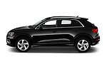 Driver side profile view of a 2019 Audi Q3  Advanced 5 Door SUV