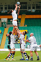 21st March 2021; Franklin's Gardens, Northampton, East Midlands, England; Premiership Rugby Union, Northampton Saints versus Bristol Bears; A general view of a line out during play