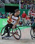Nik Goncin, Rio 2016 - Wheelchair Basketball // Basketball en fauteuil roulant.<br /> The Canadian men's wheelchair basketball team face Australia in the preliminary rounds // L'équipe canadienne masculine de basketball en fauteuil roulant affrontera l'Australie en ronde préliminaire. 10/09/2016.