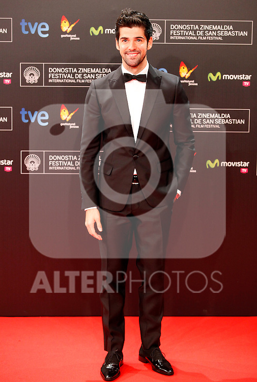Actor Miguel Angel Munoz posses in the photocall of the 61 San Sebastian Film Festival, in San Sebastian, Spain. September 20, 2013. (ALTERPHOTOS/Victor Blanco)