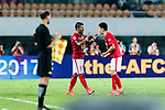 Guangzhou Midfielder Paulinho Maciel (L) celebrating his score with his teammate Liu Jian (R) during the AFC Champions League 2017 Round of 16 match between Guangzhou Evergrande FC (CHN) vs Kashima Antlers (JPN) at the Tianhe Stadium on 23 May 2017 in Guangzhou, China. (Photo by Power Sport Images/Getty Images)
