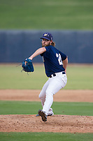 AZL Brewers relief pitcher Kadon Simmons (20) delivers a pitch to the plate against the AZL Padres 2 on September 2, 2017 at Maryvale Baseball Park in Phoenix, Arizona. AZL Brewers defeated the AZL Padres 2 2-0. (Zachary Lucy/Four Seam Images)