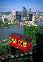 Saved from demolition, the incline continues to operate taking passenger from Pittsburgh's downtown to Mt. Washington communities. Pittsburgh Pennsylvania United States Mt. Washington.