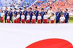 Teams Japan line up for the AFC Asian Cup UAE 2019 Quarter Finals match between Vietnam (VIE) and Japan (JPN) at Al Maktoum Stadium on 24 January 2019 in Dubai, United Arab Emirates. Photo by Marcio Rodrigo Machado / Power Sport Images
