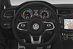 Car pictures of steering wheel view of a 2015 Volkswagen Golf GTE 5 Door Hatchback 2WD Steering Wheel