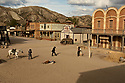 Spain - Andalusia - Professional stuntmen playing a western movie scene at Oasys Mini Hollywood movie set.