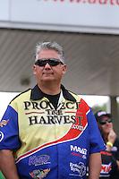May 11, 2013; Commerce, GA, USA: NHRA pro stock driver Rodger Brogdon during the Southern Nationals at Atlanta Dragway. Mandatory Credit: Mark J. Rebilas-