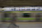 Subway, Blurred motion, Tokyo, Honshu, Japan