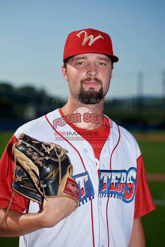 Williamsport Crosscutters pitcher Keylan Killgore (28) poses for a photo before a game against the Mahoning Valley Scrappers on August 28, 2018 at BB&T Ballpark in Williamsport, Pennsylvania.  Williamsport defeated Mahoning Valley 8-0.  (Mike Janes/Four Seam Images)
