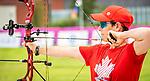 Karen Van Nest, Tokyo 2020  -  Archery // Tir à L'Arc<br /> Karen Van Nest during an archery training session // Karen Van Nest lors d'un entraînement au tir à l'arc.  24/08/2021.