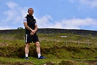 2020 05 05 Adam Davies made NHS sign, Merthyr Tydfil in south Wales, UK.