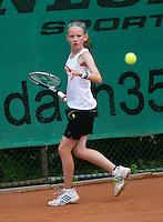 August 4, 2014, Netherlands, Dordrecht, TC Dash 35, Tennis, National Junior Championships, NJK,  Lois van de Fliert (NED)<br /> Photo: Tennisimages/Henk Koster