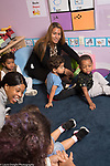 Education Preschool Phase-in First Days of School Head Start Early Learn 2s program circle time with teachers and students