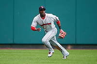 Pawtucket Red Sox outfielder Rusney Castillo (31) tracks a base hit during a game against the Rochester Red Wings on July 1, 2015 at Frontier Field in Rochester, New York.  Rochester defeated Pawtucket 8-4.  (Mike Janes/Four Seam Images)