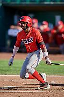 Torii Hunter (2) of the Orem Owlz bats against the Ogden Raptors at Lindquist Field on September 10, 2017 in Ogden, Utah. Ogden defeated Orem 9-4. (Stephen Smith/Four Seam Images)