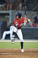 Tucker Neuhaus (5) of the Carolina Mudcats at bat during the 2018 Carolina League All-Star Classic at Five County Stadium on June 19, 2018 in Zebulon, North Carolina. The South All-Stars defeated the North All-Stars 7-6.  (Brian Westerholt/Four Seam Images)