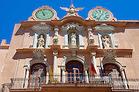 Statue of Our Lady Of Trapani on the Baroque Palazzo Senatorio [ Town Hall ] Trapani, Sicily
