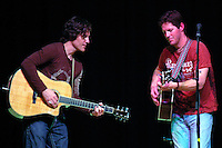 Chris and Eric Reading, originally from San Diego, perform at Dana Middle School in Point Loma, Thursday March 27th 2008.  The show is the first one of the Tour 4 Cure series and Chris Reading Scholarship Fund.