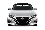 Car photography straight front view of a 2020 Nissan Altima SL 4 Door Sedan