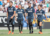 Berkley, CA - Saturday July 26, 2014: Inter Milan defeated Real Madrid 3-2 in the penalty shots in their opening game of the International Champions Cup at the Cal Memorial Stadium in Berkley California.