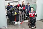 Sebastien Fortier, Sochi 2014.<br /> Team Canada arrives at the airport in Sochi for the Sochi 2014 Paralympic Winter // Équipe Canada arrive à l'aéroport de Sotchi pour Sochi 2014 Jeux paralympiques d'hiver. 03/03/2014.