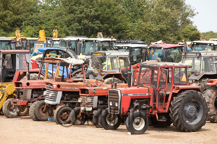 Used tractors in Cambridge Machinery Sales <br /> ©Tim Scrivener Photographer 07850 303986<br />      ....Covering Agriculture In The UK....