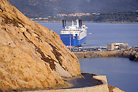 - Corsica, Ile Rousse, ferry landing place<br /> <br /> - Corsica, Ile Rousse, approdo dei traghetti