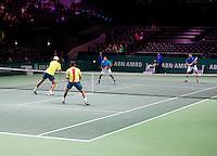 Februari 12, 2015, Netherlands, Rotterdam, Ahoy, ABN AMRO World Tennis Tournament, Aisam-Ul-Haq Qureshi (PAK) / Nedad Zimonjic (SRB) - Jean-Julien Rojer (NED) / Horia Tegau (ROU) <br /> Photo: Tennisimages/Henk Koster