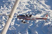 Europe/France/Rhone-Alpes/74/Haute-Savoie/Megève:le massif du Mont-Blanc Vue Aerienne - avion d'Aerocime prés de l'Aiguille du Midi