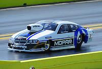 Sept. 24, 2011; Ennis, TX, USA: NHRA pro stock driver Allen Johnson during qualifying for the Fall Nationals at the Texas Motorplex. Mandatory Credit: Mark J. Rebilas-