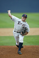 Jason Windsor of the Cal State Fullerton Titans pitches during a game at Goodwin Field on June 6, 2003 in Fullerton, California. (Larry Goren/Four Seam Images)