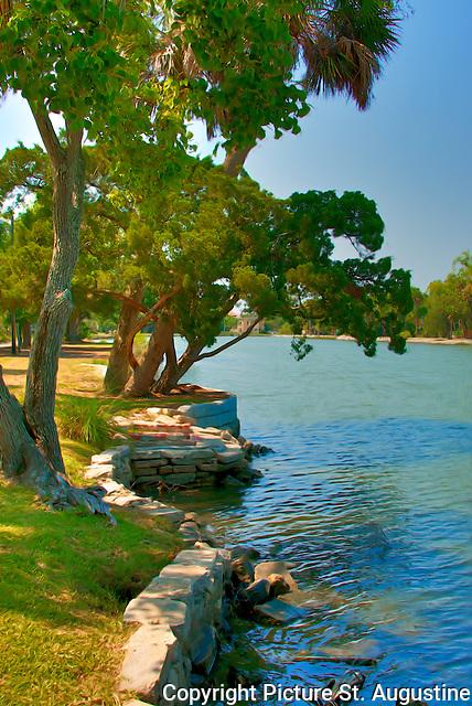 Lake Maria Sanchez in historic St. Augustine, Florida