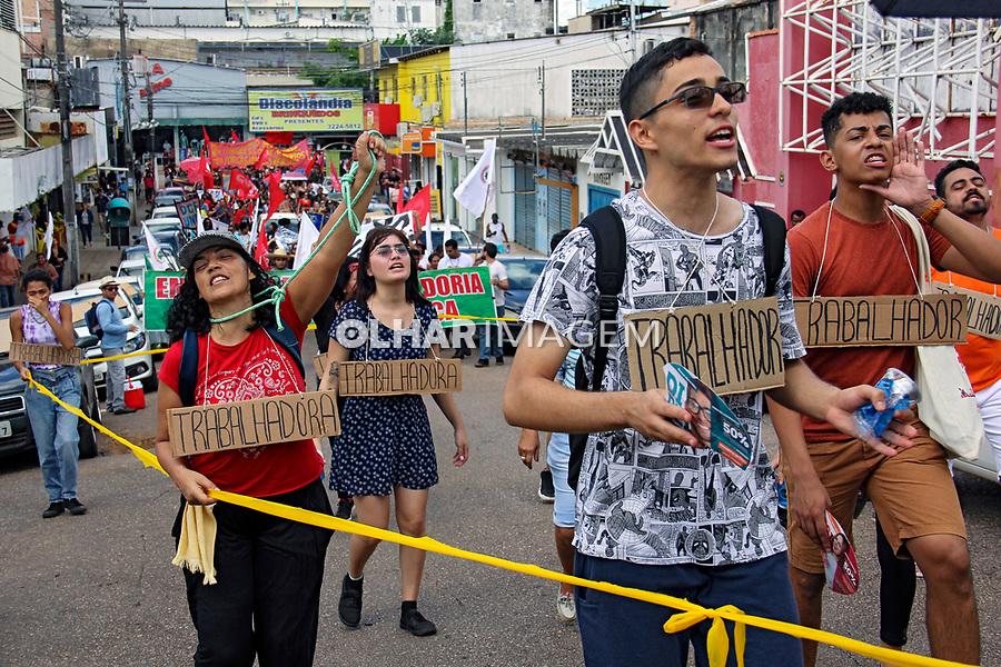Manifestaçao de apoio a Greve Geral. Porto Velho. Rondonia. 14.06. 2019. Foto Lineu  Kohatsu