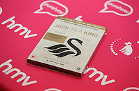 """Pictured: A copy of the dvd Wednesday 14 January 2015<br /> Re: Swansea City footballers have signed copies of the """"Jack To A King """" dvd at HMV store in the Quadrant, Swansea, south Wales."""