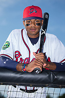 Danville Braves outfield Isranel Wilson (12) poses for a photo prior to the game against the Elizabethton Twins at American Legion Post 325 Field on July 1, 2017 in Danville, Virginia.  The Twins defeated the Braves 7-4.  (Brian Westerholt/Four Seam Images)