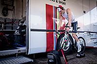 Mathieu van der Poel (NED/Corendon-Circus) at warm-up<br /> <br /> Azencross Loenhout 2019 (BEL)<br />  <br /> ©kramon