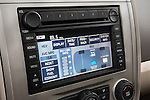 Stereo audio system detail of a 2008 Ford Escape Hybrid