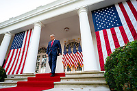 White House Coronavirus Update Briefing<br /> <br /> President Donald J. Trump delivers an update on the COVID-19 Coronavirus vaccine development Operation Warp Speed, Friday, Nov. 13, 2020, in the Rose Garden of the White House. (Official White House Photo by Tia Dufour)
