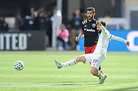 WASHINTON, DC - FEBRUARY 29: Washington, D.C. - February 29, 2020: Jack Price #19 of the Colorado Rapids battles the ball with Felipe Martins #18 of D.C. United. The Colorado Rapids defeated D.C. United 2-1 during their Major League Soccer (MLS)  match at Audi Field during a game between Colorado Rapids and D.C. United at Audi FIeld on February 29, 2020 in Washinton, DC.