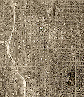 historical aerial photograph Salt Lake City, Utah, 1962