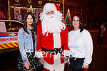 Shauna Grain and Eileen Stack meeting Santa in Tralee on Saturday.