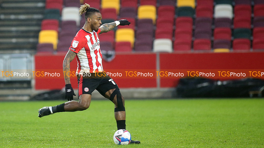 Ivan Toney scores Brentford's fourth goal from the penalty spot during Brentford vs Wycombe Wanderers, Sky Bet EFL Championship Football at the Brentford Community Stadium on 30th January 2021