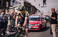 Jack Haig (AUS/Michelton-Scott) rolling in 14th at the finish<br /> <br /> 104th Liège - Bastogne - Liège 2018 (1.UWT)<br /> 1 Day Race: Liège - Ans (258km)