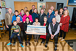 Bridge Bar New Year Day Charity Walk cheque presentation in aid of Kerry Cancer Support Group Health Link Transport in the Bridge Bar, Rathmore last Friday night. Noreen Murphy in the centre representing Bridge Bar presenting a cheque for €5770 to Trish Kelly (left) and Breda Dyland (right) both from Kerry Cancer Support Group.
