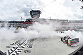 NASCAR Xfinity Series<br /> Fitzgerald Glider Kits 300<br /> Bristol Motor Speedway, Bristol, TN USA<br /> Saturday 22 April 2017<br /> Erik Jones, Reser's American Classic Toyota Camry, does a burnout after winning.<br /> World Copyright: John K Harrelson<br /> LAT Images<br /> ref: Digital Image 17BRI1jh_03378
