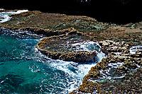 Stone terraces, Netherland Antilles, Bonaire, Caribbean Sea, Atlantic, Washington Slagbaai National Park, Boka Kokolishi