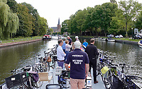 Nederland  Maarssen - Augustus 2018.  De Fietsboot is de hop-on-hop-off vaarverbinding tussen Vreeland en Oud-Zuilen voor fietsers en wandelaars.  Foto Berlinda van Dam / Hollandse Hoogte