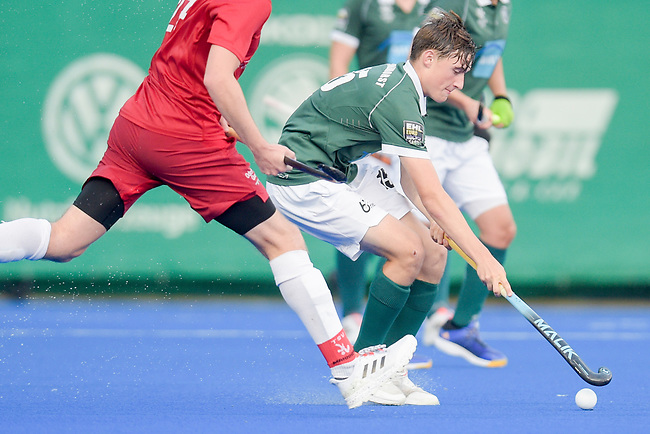 Krefeld, Germany, August 27: During the men quarterfinal fieldhockey match between Uhlenhorst Muelheim and TSV Mannheim on August 27, 2021 at the 1. Liga-Cup at Crefelder HTC in Krefeld, Germany. (Photo by Dirk Markgraf / www.265-images.com) *** Local caption ***