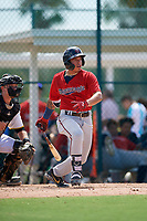 GCL Twins Erick Rivera (58) bats during a Gulf Coast League game against the GCL Pirates on August 6, 2019 at Pirate City in Bradenton, Florida.  GCL Twins defeated the GCL Pirates 4-2 in the first game of a doubleheader.  (Mike Janes/Four Seam Images)